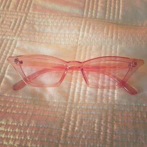 Retro Palm Springs Rose Tinted Sunglasses